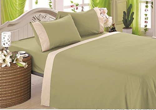 1800-count-4-piece-deep-pocket-bed-sheet-set-two-tone-design-new-queengreen-with-cream-trim