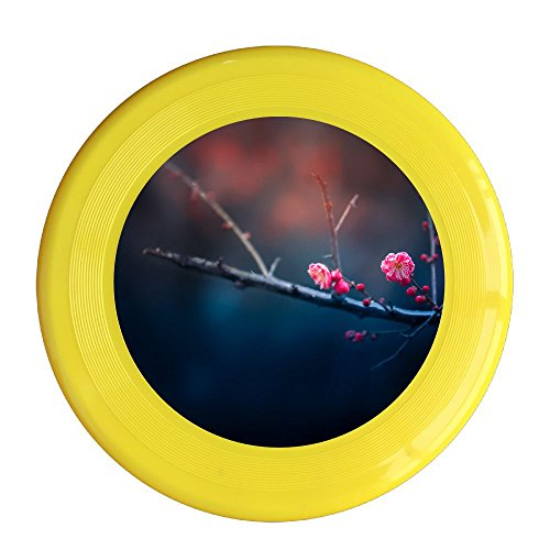 Skkoka Frisbee Ling Cold Alone Open Natural Color Flowers Plum Ecological Mood Plum Plant Large Aperture Frisbee Family Fun Group Game Variety Of Colors Durable Frisbee Yellow