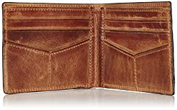 Fossil Men\'s Derrick Front Pocket Bifold, Brown, One Size