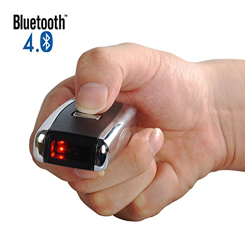 Deftun 2D Laser Bar Code Scanner Reader with Mini Wireless Bluetooth USB Rechargeable by Deftun
