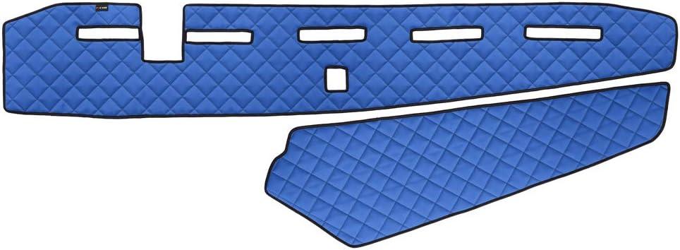 Autocommerse Armaturenbrett Abdeckmatte Aus Pu Leder Für Fh4 Euro 6 2013 Lkws Linkslenker Blau Mit Sensor Auto