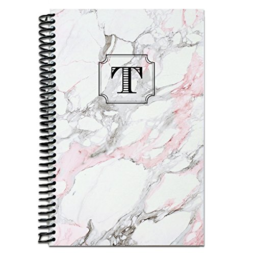 Custom journal notebook / personalized gifts / Monogram note book / Pink Marble journal / personalized notebook / monogram spiral notebook / ()