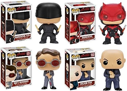 Funko POP! Marvel's Daredevil: Matt Murdock & Daredevil (Masked Vigilante + Red Suit) w/ Wilson Fisk - Vinyl Figure Set NEW