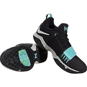 Nike Men's PG 1 Black/Aqua Basketball Shoes (10.5)