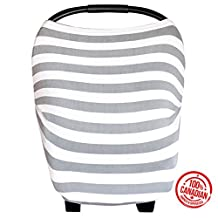 Lechitas 4 in 1 Multi-Use Baby Car Seat/Stroller Cover Canopy and Nursing Cover In Grey