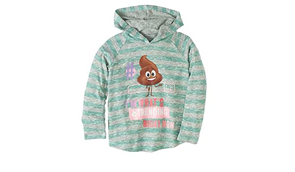 The Emoji Movie Girls Striped Green Poop Hoodie I/'m Whats Trending T-Shirt