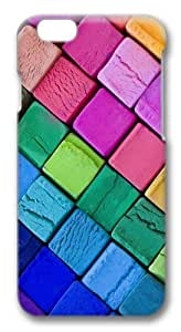 Color Wooden Blocks Custom iphone 5/5s inch Case Cover Polycarbonate 3D