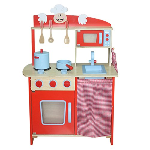 Kidzmotion La Cuisine Moyen Deluxe Large Wooden Toy Kids Unisex Pretend Play Kitchen by Kidzmotion