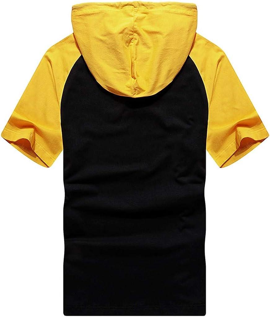 lovever Men Elasticity Leisure Summer Short Sleeve Stripe Cotton Plus Size Polo Shirt Tee