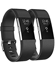 Vancle Sport Bands Compatible with Fitbit Charge 2 Bands, Adjustable Replacement Strap Wristband for Fitbit Charge 2 Smartwatch Heart Rate Fitness Wristband Small Large