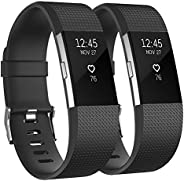 Vancle Sport Bands Compatible with Fitbit Charge 2 Bands, Adjustable Replacement Strap Wristband for Fitbit Ch