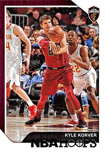 Kyle Korver Nba - 2018-19 NBA Hoops Basketball #142 Kyle Korver Cleveland Cavaliers Official Trading Card made by Panini