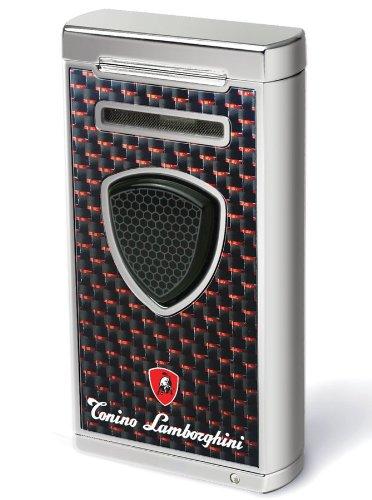 Tonino Lamborghini Pergusa Black and Red Carbon Fiber Torch Flame Lighter (Tonino Lamborghini Cutter)
