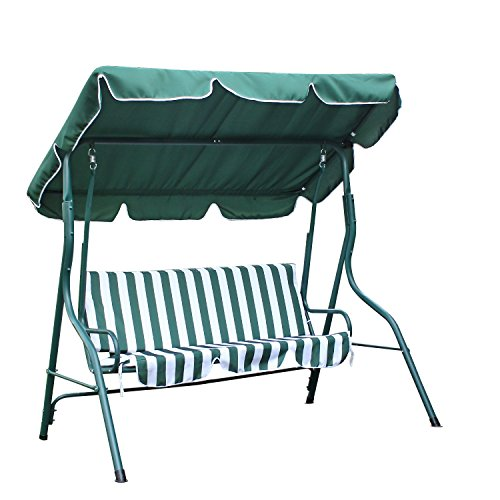 Cheap Homebeez 2 Person Canopy Porch Swing Patio Swing Strip Chair (Green)