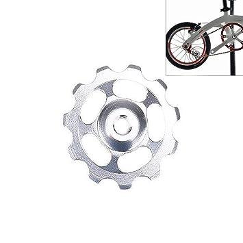 Passingbuy Polea de Cambio Trasero de Aluminio para Bicicleta, Rueda de Jockey, Rueda Trasera 11T: Amazon.es: Hogar