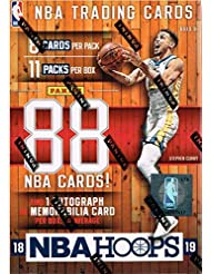 2018 2019 Hoops NBA Basketball Blaster Box of Packs with One GUARANTEED AUTOGRAPH or MEMORABILIA Card Per Box and Possible Rookies and Stars including Luka Doncic and Trae Young Plus