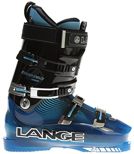 Lange Comp Pro Ski Boots Black/Blue Sz 9.5 (27.5)
