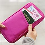 Tips 4 Wise Hot Pink Travel Wallet with Closure Zip Document Organiser Passport Ticket Holder