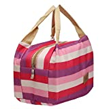 Refaxi Fit & Fresh Picnic Tote Lunch Bag Storage Thermal Insulated Cooler Travel Zipper bento Bag(Dark Purple)