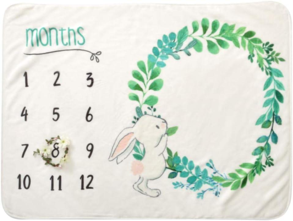 B01 76 x 102 cm COUXILY Manta Milestone para beb/é reci/én nacido accesorio de fotograf/ía de hitos mensuales