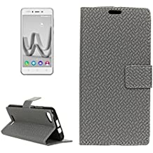 For cellphone Cases, For Wiko JERRY MAX & LENNY3 MAX Horizontal Flip Weave Leather Case with Holder & Card Slots & Wallet