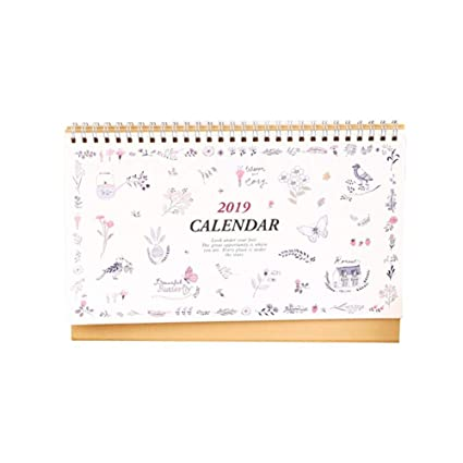 Amazon Com July 2018 To December 2019 Desk Calendar With Stand