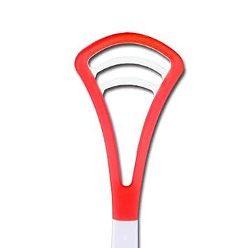 WAOBE Raspador de Lengua - 2 Palillos Limpiador de Lengua Oral Boca de Silicona Suave Cepillo