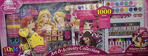 amazoncom disney art activity collection stickers stamps color paint design over 1000 items - Disney Princess Art And Activity Collection
