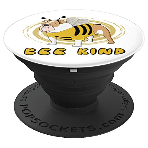 Bee Kind With Bulldog In Bee Costume - PopSockets Grip and Stand for Phones and Tablets ()