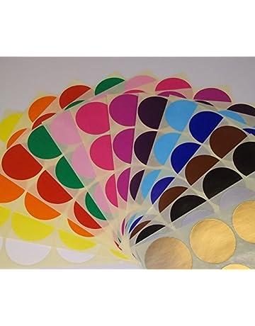 Audioprint Ltd. Paquete de 200 Redondo Control De Existencias código de Color Lunares en Blanco