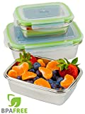 Best Steel Lunches - Jacebox Stainless Steel container Air Tight Lids, Food Review