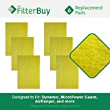 FilterBuy Replacement Media Pad Filter (20x40). Compatible with Dynamic, MicroPower Guard, Air Ranger, and more. (Pack of 6)