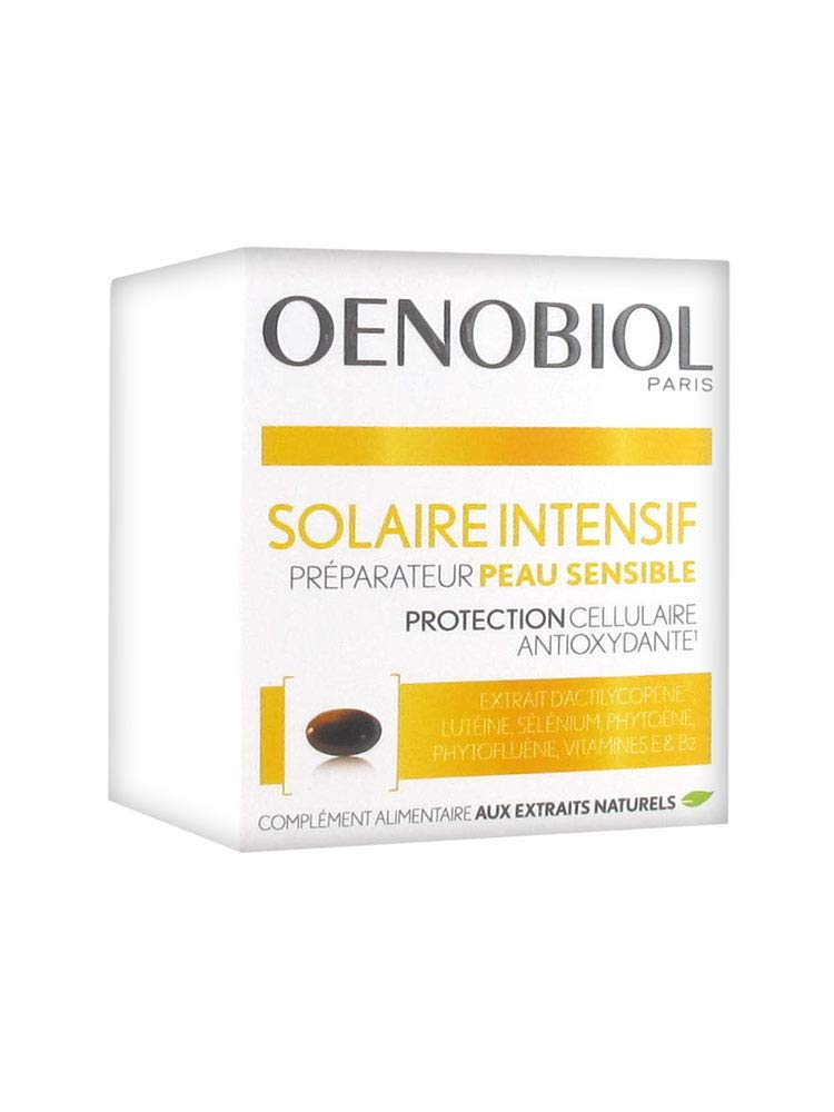 Oenobiol - solar intensive skin preparation - sensitive skin - 30 capsules