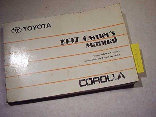 1997 Toyota Corolla Owners Manual