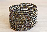 African Bracelet for Women - Maasai Jewelry - Wrap Bracelet - Handmade in Kenya - Metallic/Different shades of Bronze/Berry Blue/Eggplant Purple