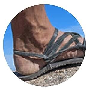 alfombrilla de ratón Caminar en mis sandalias - ronda - 20cm