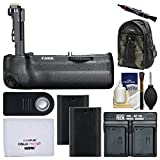 Canon BG-E21 Battery Grip for EOS 6D Mark II DSLR Camera with 200EG Backpack + 2 LP-E6N Batteries & Dual Charger + Remote Kit
