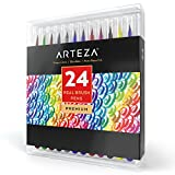 Arteza Real Brush Pens - 24-Colors - Watercolor Markers - (Set of 24)