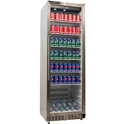 EdgeStar 14 Cu. Ft. Built-In Commercial Beverage Merchandiser - White and Stainless Steel