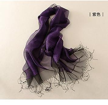 Sunny Dream Su Actuel Foulard Printemps Dress châles Coup Double la Couleur  Or Soie Soie- 9bdc70cf493