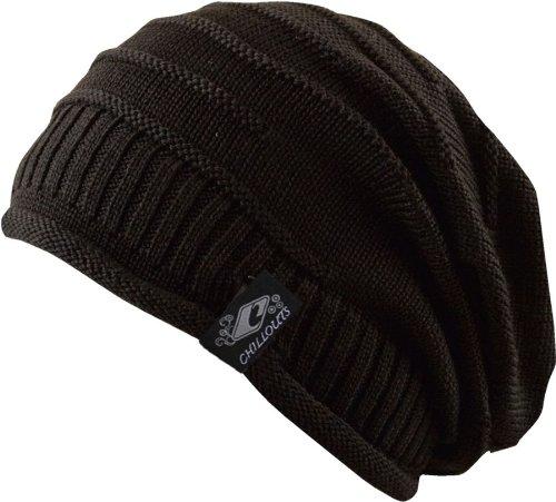 Long Beanie Cap schwarz - Trendy Strickmütze, Damen Herren Strick Mütze unisex, 2013, Skimütze, Winter Mütze