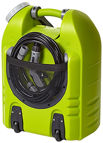 Aqua2Go 'Pro' Multipurpose Outdoor Portable Spray Washer with 5 Gal Water Tank, Up to 145 psi, Hose length of 19.5 ft, Includes Rechargeable Battery With Flashlight and USB Port