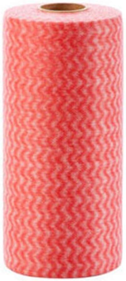 Paños de limpieza – 1 rollo de telas no tejidas desechables para lavar toallas de tela a rayas respetuosas con el medio ambiente – Paños de limpieza de anteojos de algodón sin
