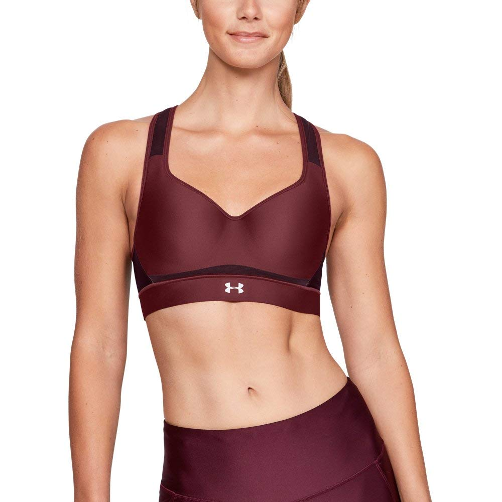 Under Armour Women's Warp Knit High Impact Bra, Brick Red (647)/Reflective, 36B by Under Armour