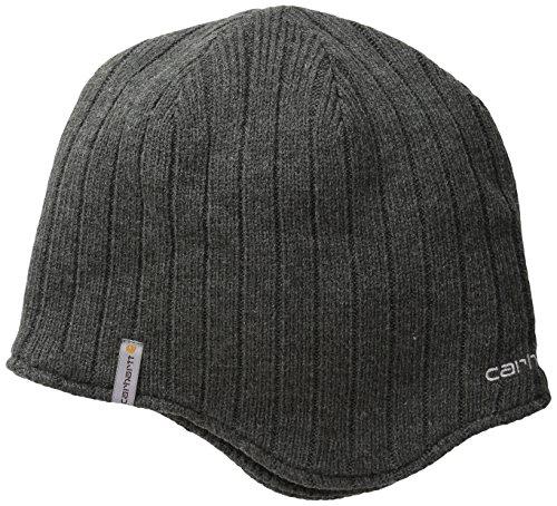 Carhartt Winter Knit Hat (Carhartt Men's Firesteel Hat, Charcoal Heather, One Size)