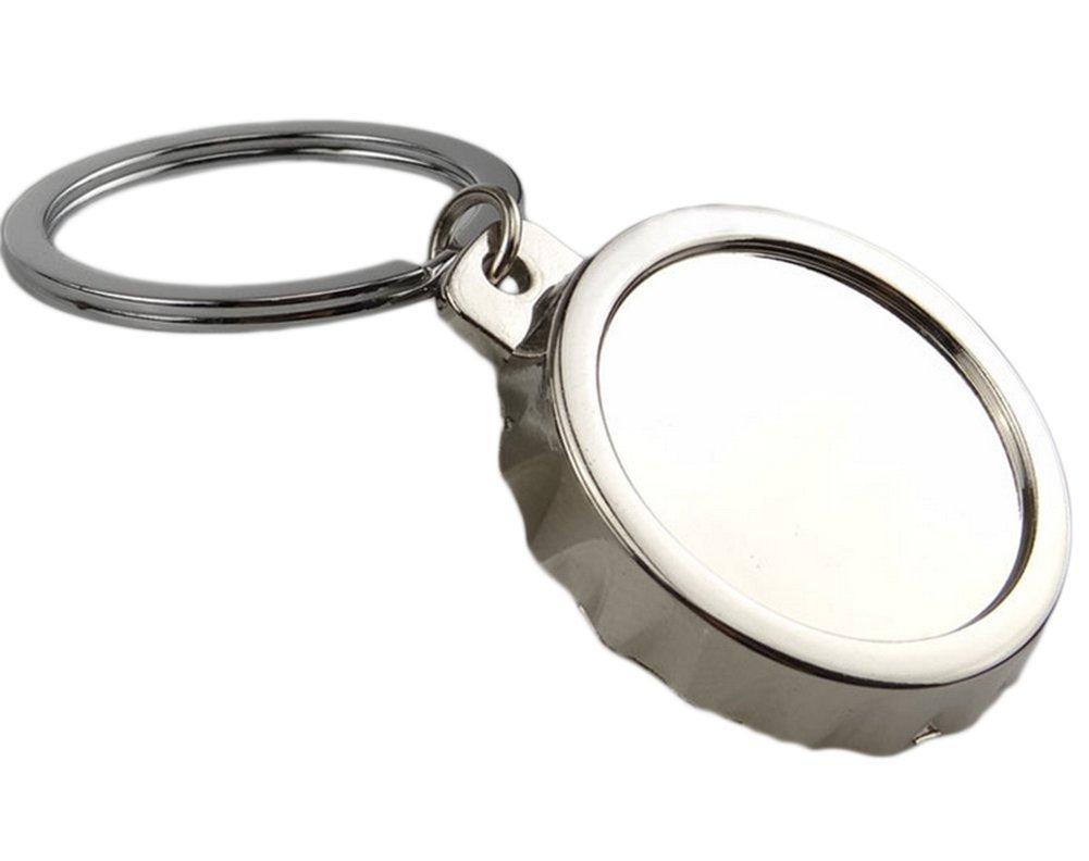 Doitsa Ouvre-Bouteille de Biè re en Mé tal Forme de Couverture de Biè re Argent, Cadeau Cré atif, Tire-Bouchon Original Portable Cadeau Créatif