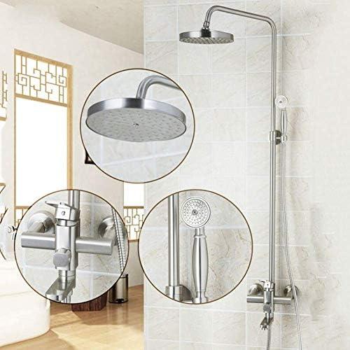 CHUNSHENN 8インチ節水シャワーヘッドノズル高圧エアレーター浴シャワーセットニッケルブラシ壁はシャワー蛇口マウント バス用品