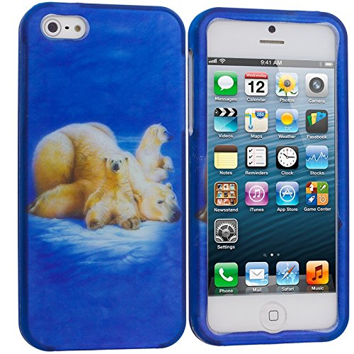 Cell Accessories For Less (TM) Polar Bear Hard Rubberized Design Case Cover for Apple iPhone 5 / 5S + Bundle (Stylus & Micro Cleaning Cloth) - By TheTargetBuys