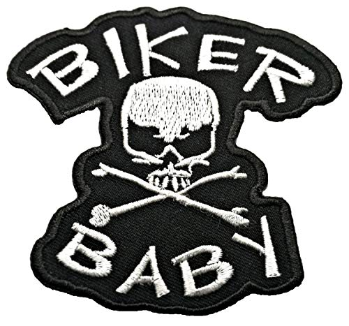 Hot Leathers Biker Baby Skull N' Bone Patch
