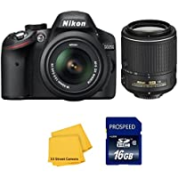 Nikon D3200 Digital SLR Camera with Nikon 18-55mm VR Lens and Nikon 55-200mm VR II Lens